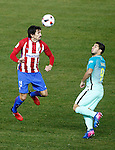 Atletico de Madrid's Stefan Savic (l) and FC Barcelona's Luis Suarez during Spanish Kings Cup semifinal 1st leg match. February 01,2017. (ALTERPHOTOS/Acero)