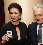 Catherine Zeta-Jones and Michael Douglas attend the Career Transition for Dancers on November 1, 2017 at The Marriott Marquis in New York City.