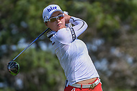 Jin Young Ko (KOR) watches her tee shot on 3 during round 2 of  the Volunteers of America LPGA Texas Classic, at the Old American Golf Club in The Colony, Texas, USA. 5/6/2018.<br /> Picture: Golffile | Ken Murray<br /> <br /> <br /> All photo usage must carry mandatory copyright credit (&copy; Golffile | Ken Murray)