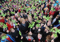 Children from Carolside Primary, Clarkston joined BBC weather presenter Gail McGrane to officially open the wind turbine at the school.....