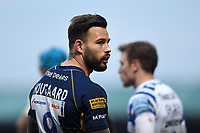 Francois Hougaard of Worcester Warriors looks on during a break in play. Gallagher Premiership match, between Worcester Warriors and Bath Rugby on January 5, 2019 at Sixways Stadium in Worcester, England. Photo by: Patrick Khachfe / Onside Images
