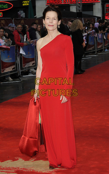 Alice Krige.The 'Chariots Of Fire' UK film premiere, Empire cinema, Leicester Square, London, England..July 10th, 2012.full length red one shoulder sleeve dress .CAP/CAN.©Can Nguyen/Capital Pictures.