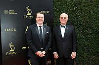 PASADENA - APR 29: Adam Sharp, Charles L Dages at the 45th Daytime Emmy Awards Gala at the Pasadena Civic Center on April 29, 2018 in Pasadena, California