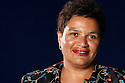 Jackie Kay,Scottish author ,playwright and writer of Red Dust Road  at The Edinburgh International  Book Festival 2010 .CREDIT Geraint Lewis