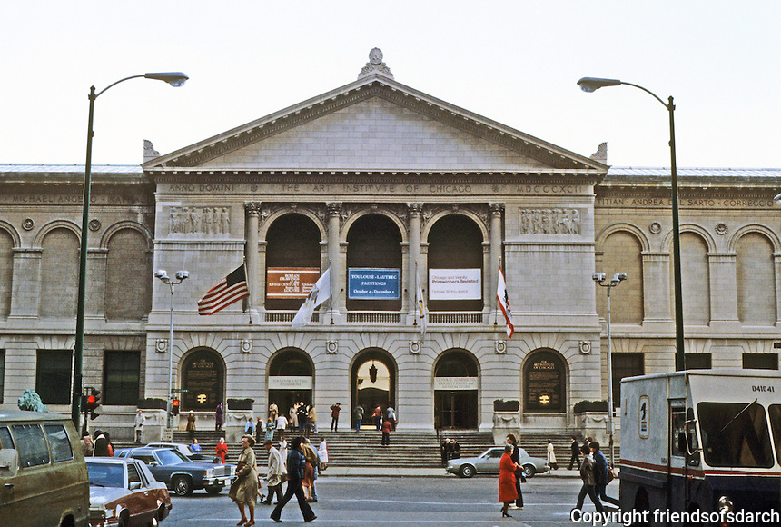 Chicago: The Art Institute, Michigan Ave. at Adams, 1892. Shipley, Rutan, and Coolidge (1892) and many later additions.