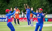 ICC World T20 Qualifier - GROUP B MATCH - NETHERLANDS V AFGHANISTAN at Grange CC, Edinburgh - Afghanistan bowler Dawlat Zadran (centre) celebrates a wicket as team-mates rejoice — credit @ICC/Donald MacLeod - 09.07.15 - 07702 319 738 -clanmacleod@btinternet.com - www.donald-macleod.com