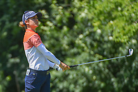 Azahara Munoz (ESP) watches her tee shot on 17 during round 2 of the 2018 KPMG Women's PGA Championship, Kemper Lakes Golf Club, at Kildeer, Illinois, USA. 6/29/2018.<br /> Picture: Golffile | Ken Murray<br /> <br /> All photo usage must carry mandatory copyright credit (© Golffile | Ken Murray)
