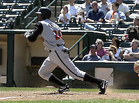 April 29, 2004:  Eric Crozier of the Buffalo Bisons, International League (AAA) affiliate of the Cleveland Indians, during a game at Frontier Field in Rochester, NY.  Photo by:  Mike Janes/Four Seam Images