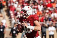 Stanford, CA - November 5, 2016: Keller Chryst during  the Stanford vs Oregon State game at Stanford Stadium Saturday. <br /> <br /> Stanford won 26-15.