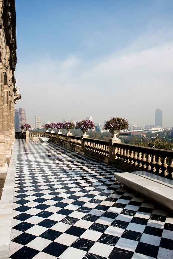 Chapultepec castle in Chapultepec Park, Mexico City.