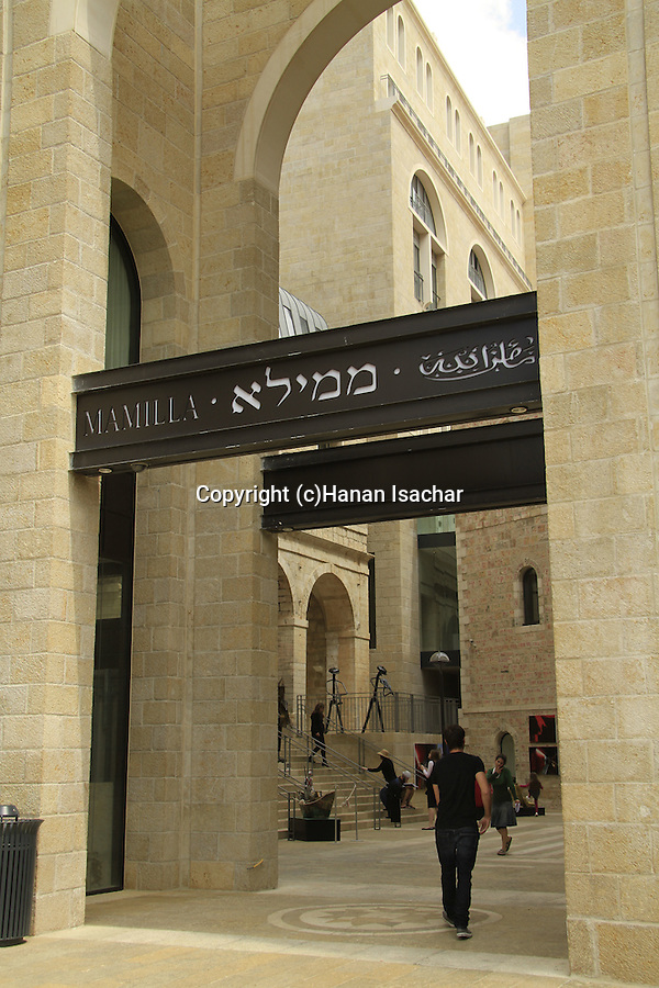 Israel, Jerusalem, Mamilla shopping mall
