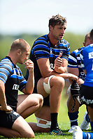 Luke Charteris of Bath Rugby speaks to his team-mates. Bath Rugby pre-season training on August 8, 2018 at Farleigh House in Bath, England. Photo by: Patrick Khachfe / Onside Images