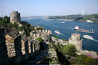 RUMELI HISARI FORTRESS ON THE BOSPHORUS, ISTANBUL, TURKEY