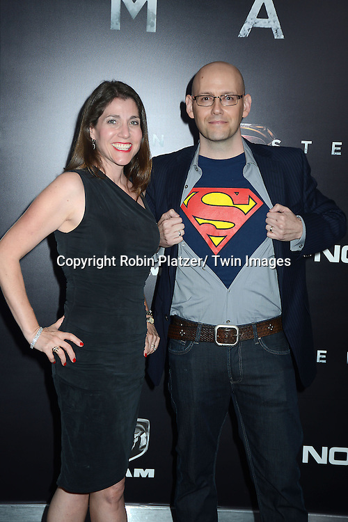 Cori Meltzer and Brad Meltzer  attends the World Premiere of &quot;Man of Steel&quot; on June 10, 2013 at Alice Tully Hall in New York. The movie stars <br /> Henry Cavill, Amy Adams, Michael Shannon, Kevin Costner, Laurence Fishburne, Anje Traue, Ayelet Zurer, Christopher Meloni, Russell Crowe, Dylan Sprayberry, Michael Kelly,  Cooper Timberline, Christina Wren and Rebecca Buller.