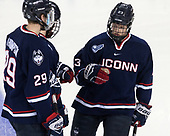 Tage Thompson (UConn - 29), Kasperi Ojantakanen (UConn - 23) - The Boston College Eagles defeated the visiting UConn Huskies 2-1 on Tuesday, January 24, 2017, at Kelley Rink in Conte Forum in Chestnut Hill, Massachusetts.