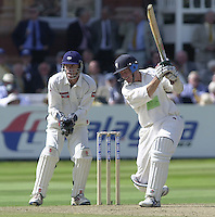 Photo Peter Spurrier.31/08/2002.Cheltenham & Gloucester Trophy Final - Lords.Somerset C.C vs YorkshireC.C..Somerset batting Peter Bowler (blue helmet)