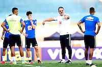 GOIANIA, GO, 29.07.2016 - BRASIL-JAP&Atilde;O - Rog&eacute;rio Micale da sele&ccedil;&atilde;o ol&iacute;mpica brasileira de futebol no Est&aacute;dio Serra Dourada, em Goi&acirc;nia (GO), nesta sexta-feira,29. A equipe enfrentar&aacute; o Jap&atilde;o em partida amistosa no s&aacute;bado (30), em prepara&ccedil;&atilde;o para os Jogos Ol&iacute;mpicos do Rio.<br /> (Foto: Marcos Souza/Brazil Photo Press)