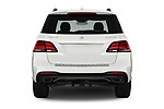 Straight rear view of 2017 Mercedes Benz GLE-Class AMG-GLE43 5 Door SUV Rear View  stock images