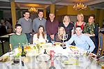 The O'Shea Clan supporting the Dromid GAA Boston Tea Party in The Waterville Lake Hotel on Friday night last were front l-r; Joseph O'Shea, Samantha Roche, Róisín Mangin, Micheál O'Shea, back l-r; Kevin O'Shea, Sean O'Shea, Neil O'Shea, Eileen O'Shea, Elaine Horgan & Siobhan O'Shea.