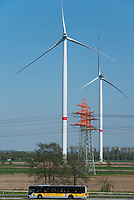 GERMANY, Hamburg, Curslack, wind farm of CC4E with Nordex N117 wind turbine / DEUTSCHLAND, Hamburg, Curslack, Nordex N117 Windkraftanlage des Windparks des CC4E Technologiezentrum der HAW