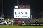 Die Zuschauerzahl  beim Spiel in der 2. Bundesliga, SV Sandhausen - 1. FC Heidenheim 1846.<br /> <br /> Foto © PIX-Sportfotos *** Foto ist honorarpflichtig! *** Auf Anfrage in hoeherer Qualitaet/Aufloesung. Belegexemplar erbeten. Veroeffentlichung ausschliesslich fuer journalistisch-publizistische Zwecke. For editorial use only. For editorial use only. DFL regulations prohibit any use of photographs as image sequences and/or quasi-video.