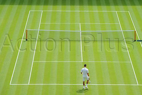29.06.2015. Wimbledon, England. The Wimbledon Tennis Championships. Gentlemen's Singles first round match Novak Djokovic (Ser)
