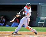 13 March 2009: Baltimore Orioles' catcher Gregg Zaun in action during a Spring Training game against the St. Louis Cardinals at Fort Lauderdale Stadium in Fort Lauderdale, Florida. The Cardinals defeated the Orioles 6-5 in the Grapefruit League matchup. Mandatory Photo Credit: Ed Wolfstein Photo