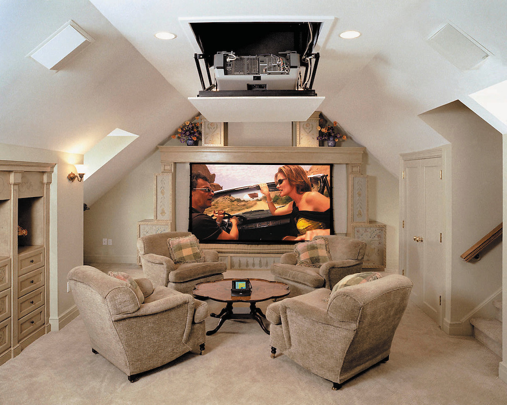 Casual Media Room With Surround Sound