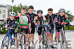 Killarney cycle club,l-r Ethan Slattery, Shane Galvin, Patrick Galvin,Lorcan Daly, Eoin Black and Alva Russell Kissane at the Tralee Manor West GP on Sunday