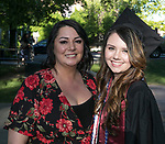 Angela Smith and Tatiana Smith during the University of Nevada College of Liberal Arts and Donald W. Reynolds School of Journalism graduation ceremony on Saturday morning, May 20, 2017.