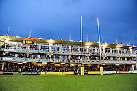 A general view of the South Stand prior to the match. Aviva Premiership match, between Bath Rugby and Saracens on April 1, 2016 at the Recreation Ground in Bath, England. Photo by: Patrick Khachfe / Onside Images