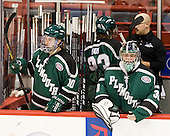Andrew Smith (PSU - 10), Jack Astedt (PSU - 30) - The visiting Plymouth State University Panthers defeated the Wentworth Institute of Technology Leopards 2-1 on Monday, November 19, 2012, at Matthews Arena in Boston, Massachusetts.