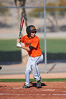 Justice Yamashita (53), from Honolulu, Hawaii, while playing for the Orioles during the Under Armour Baseball Factory Recruiting Classic at Red Mountain Baseball Complex on December 29, 2017 in Mesa, Arizona. (Zachary Lucy/Four Seam Images)