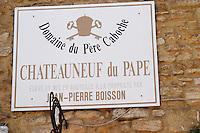 domaine du pere caboche chateauneuf du pape rhone france