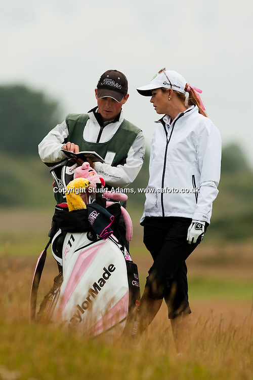 Images from Carnoustie Golf Links to coincide with Paula Creamer practicing ahead of the Ricoh Woman's British Open to be played over the Championship Links from 28th to 31st July 2011; Picture Stuart Adams, SAFOTO. www.safoto.co.uk;  16th July 2011
