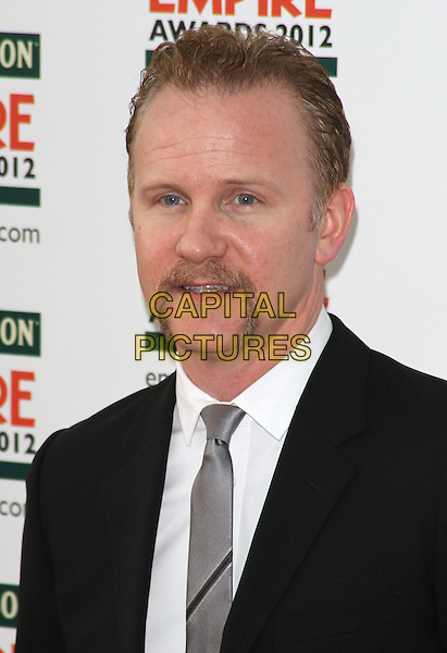 Morgan Spurlock.Jameson Empire Film Awards at the Grosvenor House Hotel, Park Lane, London, England..March 25th 2012.headshot portrait black grey gray tie white shirt facial hair goatee handlebar moustache mustache .CAP/ROS.©Steve Ross/Capital Pictures