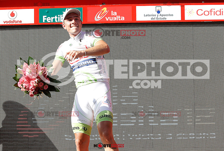 John Degenkolb celebrates the victory in the stage of La Vuelta 2012 between Logroño and Logroño.August 22,2012. (ALTERPHOTOS/Acero) /NortePhoto.com<br />