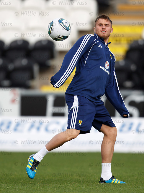 David Goodwillie on the ball