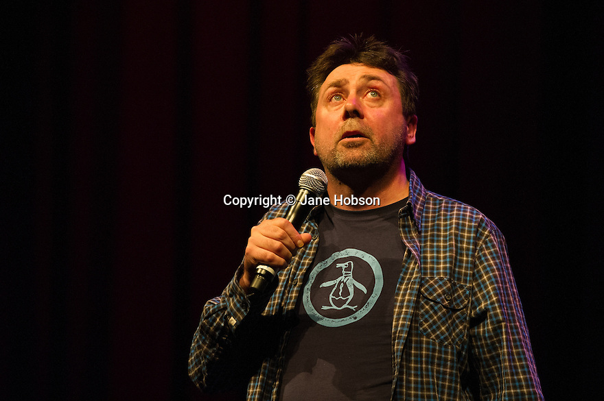Edinburgh, UK. 13.08.13.  Sean Hughes performs at the Big C Comedy Gala, in aid of Macmillan Cancer Support, as part of the Edinburgh Festival Fringe.  Photograph © Jane Hobson.