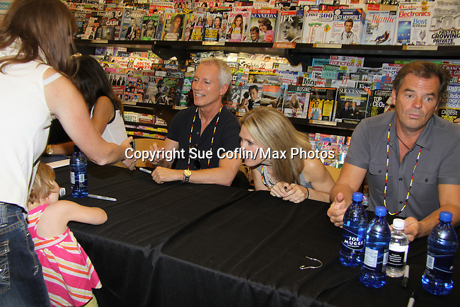 "Days Of Our Lives - Greg Vaughan,  Wally Kurth, Melissa Reeves meet the fans as they sign ""Days Of Our Lives Better Living"" on September 27, 2013 at Books-A-Million in Nashville, Tennessee. (Photo by Sue Coflin/Max Photos)"