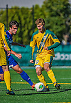 18 September 2013: University of Vermont Catamount Midfielder Noah Johnson, a Senior from South Burlington, VT, in action against the Hofstra University Pride at Virtue Field in Burlington, Vermont. The Catamounts defeated the visiting Pride 2-1. Mandatory Credit: Ed Wolfstein Photo *** RAW (NEF) Image File Available ***