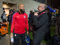 San Jose, Ca - Friday March 24, 2017: Tim Howard Kasey Keller during the USA Men's National Team defeat of Honduras 6-0 during their 2018 FIFA World Cup Qualifying Hexagonal match at Avaya Stadium.