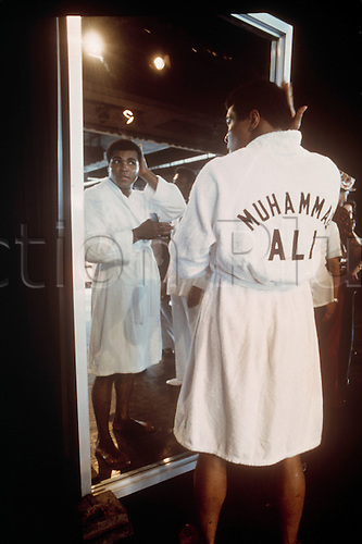 US heavyweight boxer Muhammad Ali in 1975. Muhammad Ali died on June 3rd 2016 of a respiratory complication in a Phoenix hospital.