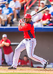 11 March 2013: Washington Nationals center fielder Denard Span in action during a Spring Training game against the Atlanta Braves  at Space Coast Stadium in Viera, Florida. The Braves defeated the Nationals 7-2 in Grapefruit League play. Mandatory Credit: Ed Wolfstein Photo *** RAW (NEF) Image File Available ***