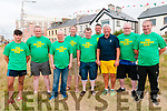 Ballybunion Bars Tug of War: The Railway bar team that took part in the inter pub Tug of War event in aid of Charity on Saturday night on the Castle Green in Ballybunion. L-R : Sean Walsh, PJ Butler, P. O'Sullivan, Mick McCarthy, John Donovan, John O'Mahony, John Dee, Garrett Madden & John O'Sullivan.