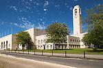 Tower of Brangwyn Hall, Guildhall, Swansea, West Glamorgan, South Wales, UK