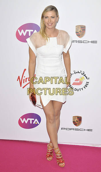 LONDON, ENGLAND - JUNE 19: Maria Sharapova attends the WTA Pre-Wimbledon Party, Kensington Roof Gardens, Kensington High St., on Thursday June 19, 2014 in London, England, UK.<br /> CAP/CAN<br /> &copy;Can Nguyen/Capital Pictures