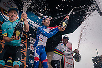 Thibaut Pinot (FRA/Groupama-FDJ) wins the  99th Milano - Torino 2018 (ITA)<br /> Miguel Angel Lopez (COL/Astana) is 2nd and fresh World Champion Alejandro Valverde (ESP/Movistar) 3rd<br /> <br /> from Magenta to Superga: 200km