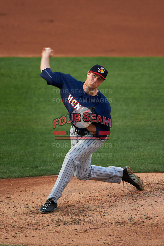 Toledo Mudhens pitcher Buck Farmer (30) delivers a pitch during a game against the Rochester Red Wings on May 12, 2015 at Frontier Field in Rochester, New York.  Toledo defeated Rochester 8-0.  (Mike Janes/Four Seam Images)