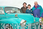 VINTAGE: Enjoying the Vintage Cars at Kerry Harvest Fair at Tralee Mart on Sunday l-r: John Brennan, Kilflynn and Tom and Eoin Stack, Duagh.